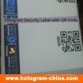 Etiquetas feitas sob encomenda do holograma da Anti-Falsificação com impressão do código de Qr