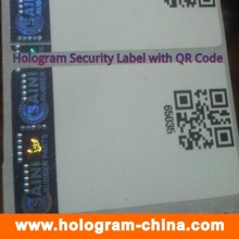Custom Hologram Hot Stamping Qr Code Sticker