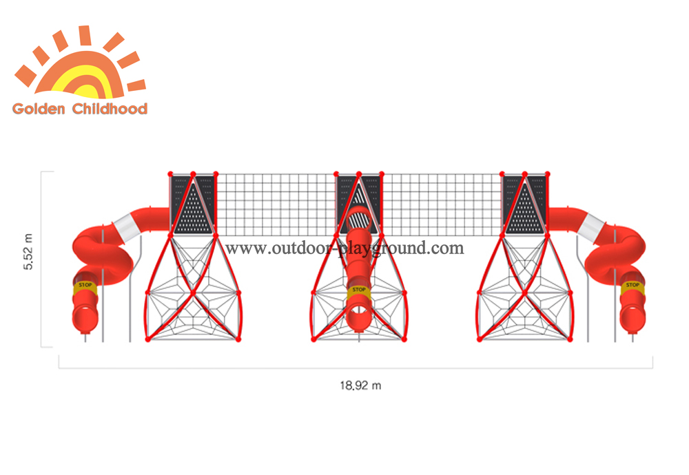 Big Kid Outdoor Playground Front Size