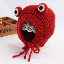 Cartoon Frog Animal Shape Pet Knitted Woolen Hat