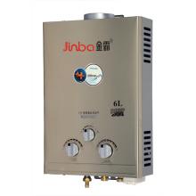 6L 7L Faible pression d'eau Type de fumée Chauffe-eau à gaz instantané