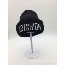 Wholesale Embroidery Letter Knitted Beanie Hat (ACEK0116)