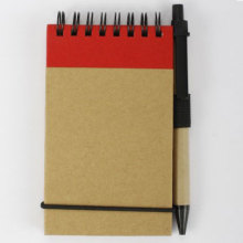 Red Eco-friendly notebook