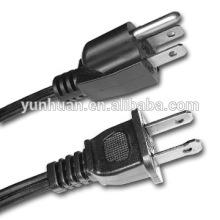 2 clavija polarizada Estados Unidos negro cable UL listado