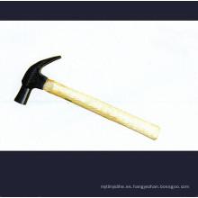 Martillo de garra de tipo británico con asas de madera