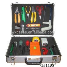 caixa de ferramentas de alumínio canto arredondado com inserção de espuma personalizado dentro