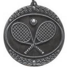 Besetzte antike silberne Finish-Medaille mit Band