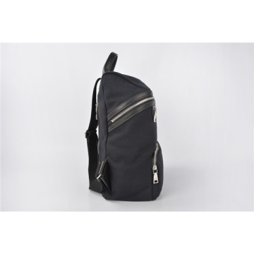 Quadra Heritage Waxed Large Canvas Rucksack In Schwarz