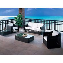 black PE round rattan furniture