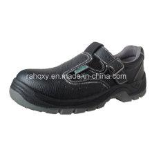 Chaussure de sécurité sandale en cuir artificiel en cuir + partie (HQ05036)