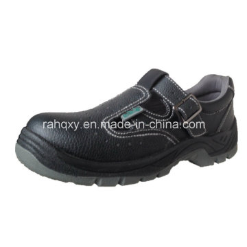 Leather+Artifical Leather Part Sandal Safety Shoe (HQ05036)