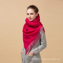 2017 articles chauds nouvel an produits hiver épais Chine rouge 100% cachemire tricoté écharpe