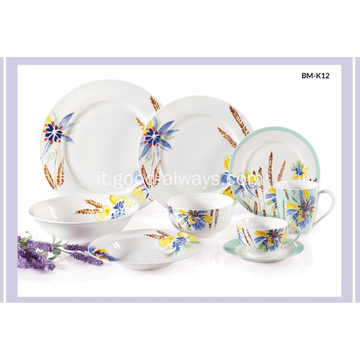 Nuovo Bone China floreale Decal Dinnerware