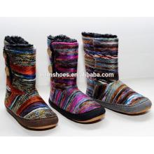 Weave novo da chegada Weaves coloridos do inverno da neve das mulheres com teclas