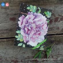 Bloco de capa de flores Moleskine com faixa elástica (XL-64K-LP-01)