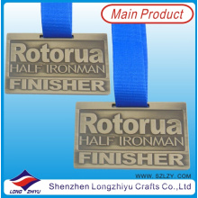 American Custom Sports Medal Gold Brushed Metal Medals Get up and Train Medals for Half Marathon