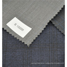 english selvage light grey color bird's eye style wool and polyester blend fabric for woman suit 2017