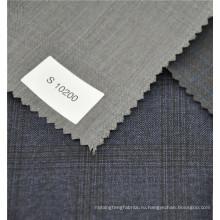английский зальбанд светло-серый цвет с высоты птичьего полета стиль шерсти и полиэстера ткань для женщины костюм 2017