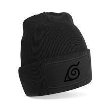 Baggy Beanie with Leather Patch