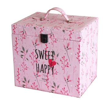 Ribbon Handle Book Shape Boxes With Print