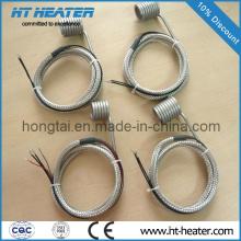 Calentador de bobina con termopar K