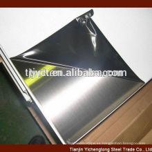hojas de acero inoxidable 2B acabado BA 201 304 316 430