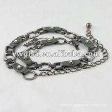 Lady's Leather Belt Chain Waist Leather Belt