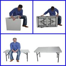 Mesa plegable 4 'portátil de plástico interior al aire libre de picnic fiesta mesas de campamento