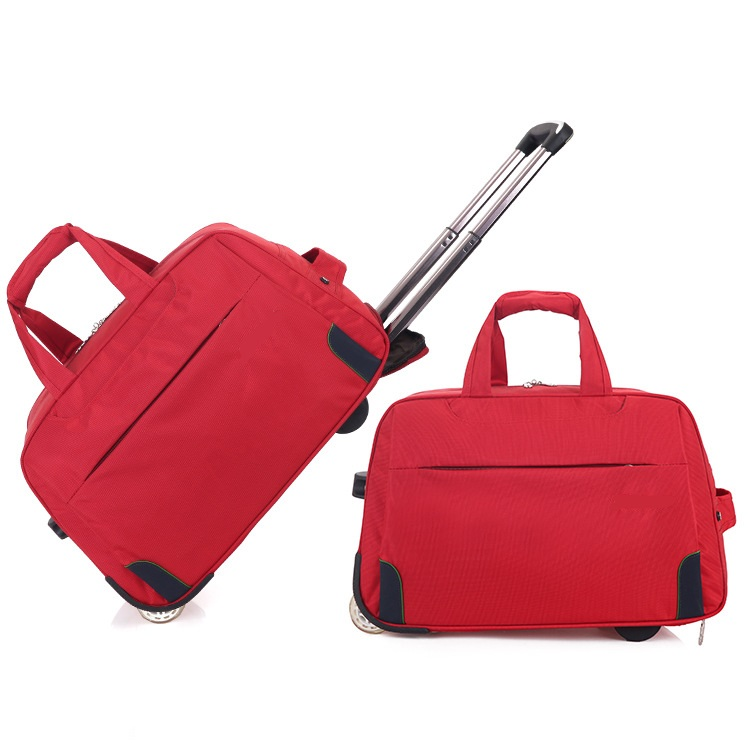 Red trolley bag