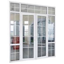 PVC Grilles design Exterior House Glass casement Entrance Door