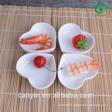 China supplier New design heart shaped ceramic dish