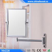 Espejo cosmético decorativo de aumento rectangular de latón 3X