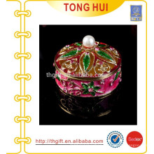 European high-grade gold-plated jewelry box painted