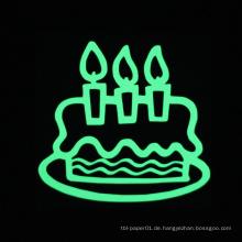 Geburtstagstorte Aufkleber leuchtenden Wandaufkleber Glow in the Dark Home Decor Geburtstag Aufkleber