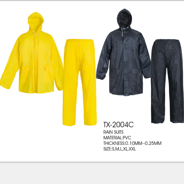 Raincoat suit yellow