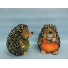 Hedgehog forma de artesanía de cerámica (LOE2537-C13.5)