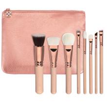 8piece sistema de cepillo del maquillaje del oro del rosa del vegano de 100% (ST0804)
