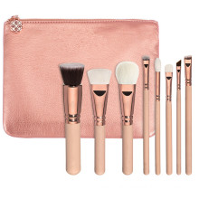 8piece 100% Vegan Rose Gold Makeup Brush Set (ST0804)