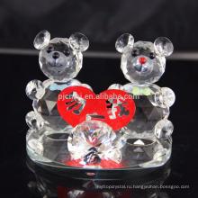 Особый стиль кристалл плюшевый медведь для свадьба украшение