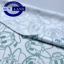 напечатайте ткань сетки глаза птицы knit полиэфира 100 для спорта тенниски школьной формы