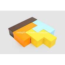 Cardboard Display Russia Block Tetris Shaped Jewelry Boxes