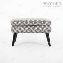 Chaise de meubles de maison de style de Barcelone en bois gris ottoman