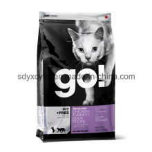 Embalaje de plástico laminado Dimensional Bolsa de alimentos para mascotas