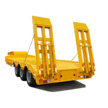 Tri Axle 50 طن Low Loader Truck Lowbed نصف مقطورة