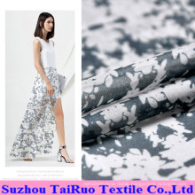 8mm Reactive Printed Crepe Silk Fabric for Lady Dress Fabric