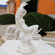 Hand carved life size marble female sculpture stone nude girl statue