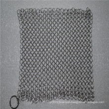 6*8inch stainless steel chainmail scrubber for kitchen cleaning