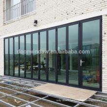 American standard main entrance doors design thermal break aluminum bifolding door from Doorwin