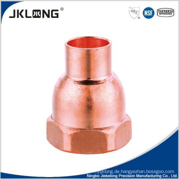 Kupfer Montage, Steckeradapter CxF Rohrleitungsarmatur