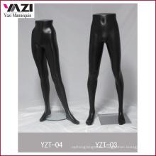 Matt Black Half Size Male Mannequin Leg for Pants
